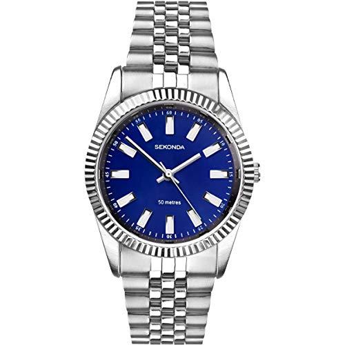 Sekonda donna quadrante blu cinturino in acciaio INOX orologio da polso 2518