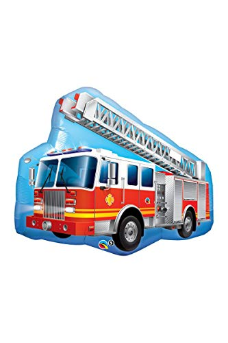 Qualatex 16466 Form Fire Truck Folie Ballon, rot, 91 cm