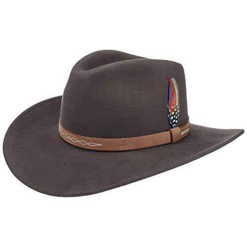 Stetson Sombrero de Fieltro Dolamo Western Hombre - Vaquero con Banda