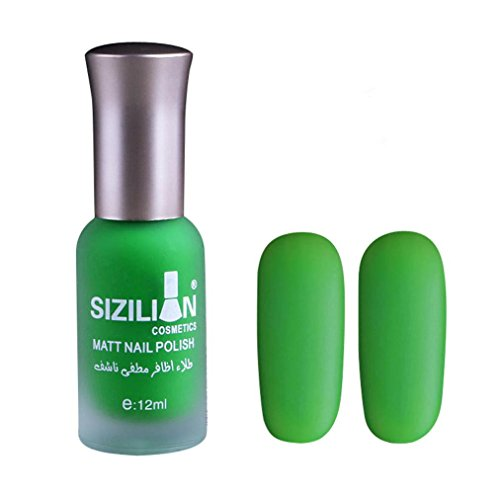 Xshuai Nagellack 2018 neue bunte Scrub strapazierfähiger Materie Nagellack schnell trocken langlebig Nail Art Matte Nagellack (Grün)
