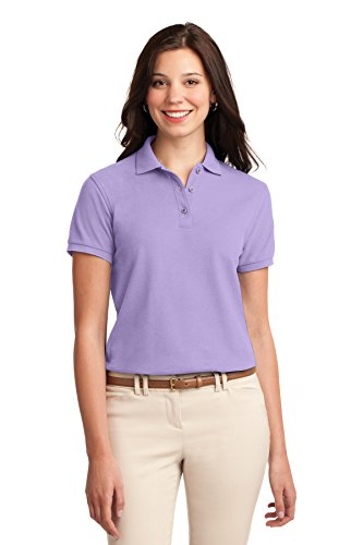 Port Authority Women's Silk Touch Polo M Bright Lavender