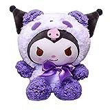 Kuromi Plush,My Melody Bowknot Cute Cartoon Stuffed Doll Figure Plushie Soft Fluffy Toy for Girls Gift (20cm, B)