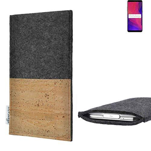 flat.design vegane Handy Hülle Evora für Ulefone Power 3L Kartenfach Kork Schutz Tasche handgemacht fair vegan