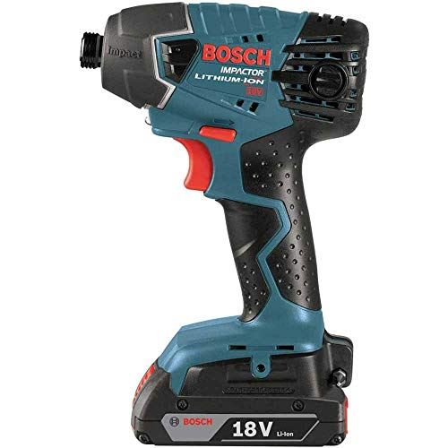 Bosch 25618-02-RT 18V Lithium-Ion 1/4 in. Impact Driver w/SlimPack Batteries (Renewed)