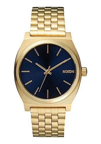 Nixon Time Teller A045 1931 - Reloj unisex, color dorado claro/cobalto