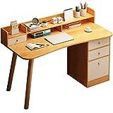 Mesas para ordenador Computadora de Escritorio Soporte de escritorio casa sencilla y doble moderno-escritorio del gráfico de pie base del monitor mesa de estudio ( Color : Brown , Size : 50*100*93cm )