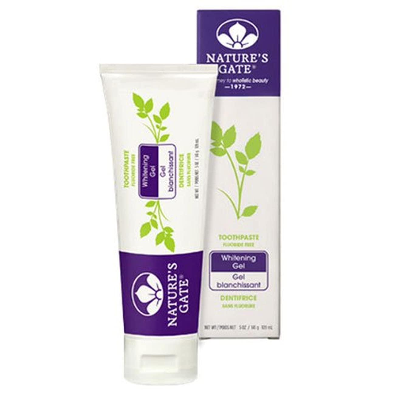 正当な司令官トレース海外直送品Nature's Gate Dental Therapy Whitening Gel, 5 Oz (Pack of 2)