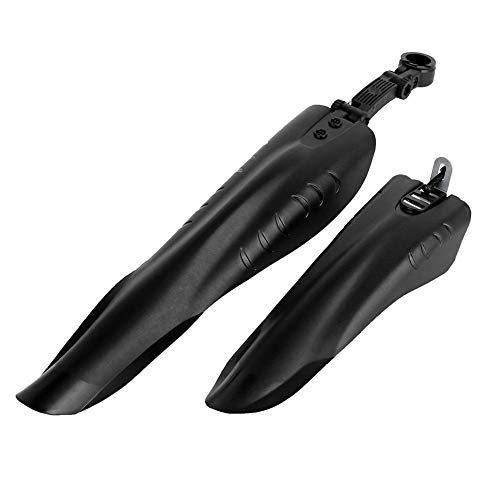 yijiang New Fender Bicycle Bike Fender Mountain Bike Front Rear Quick Release Cycling Fender Wings Mud Guard High-Strength Bike Parts (Color : Black)