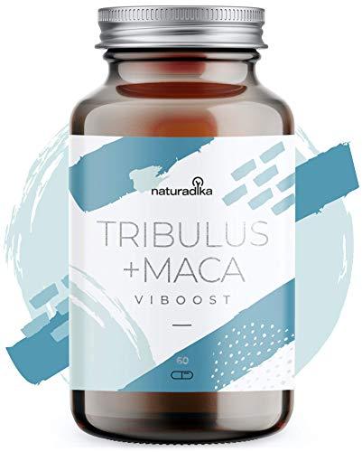 VIBOOST Tribulus terrestris + Maca andina capsulas - Booster de Testosterona para Hombres y Mujeres - Recuperador muscular e Impulsor de fuerza y resistencia con maca polvo, tribulus, rhodiola y zinc