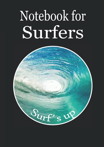 Notebook for Surfers: This beautiful big graph paper notebook with this magic underwater view and the surfer on its cover is designed for surfers in ... divers, sailors etc. (Books for Surfers)