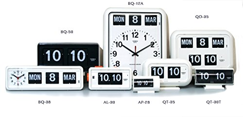 TWEMCOトゥエンコデジタルカレンダークロックパタパタ時計置き・掛け兼用bq-38WH