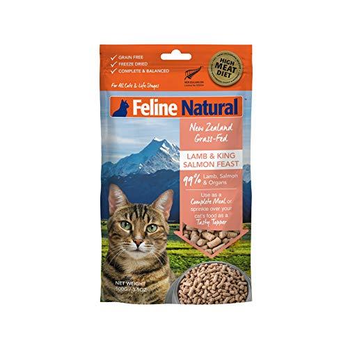 Feline Natural Grain-Free Freeze Dried Cat Food, Lamb & Salmon 3.5oz