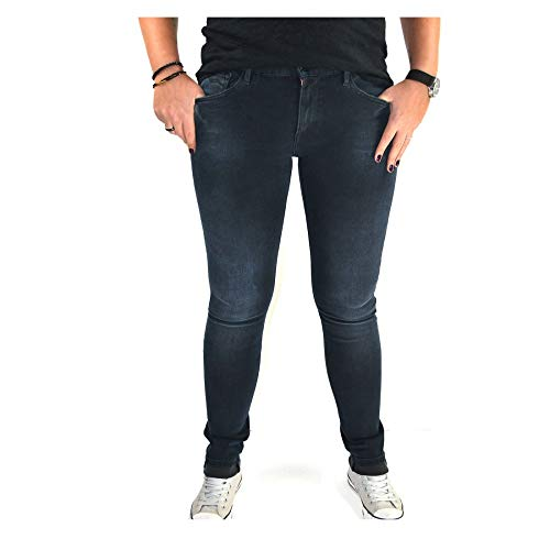 Replay dames broek Jeans LUZ HyperflexTM Skinny Fit denim donkerblauw staplengte L30