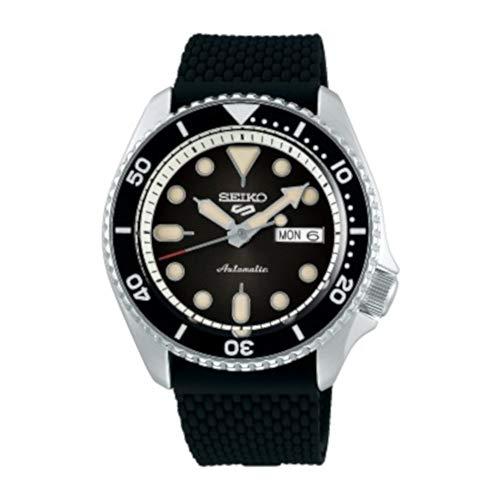Seiko Herren Analog Automatik Uhr mit Silikon Armband SRPD73K2