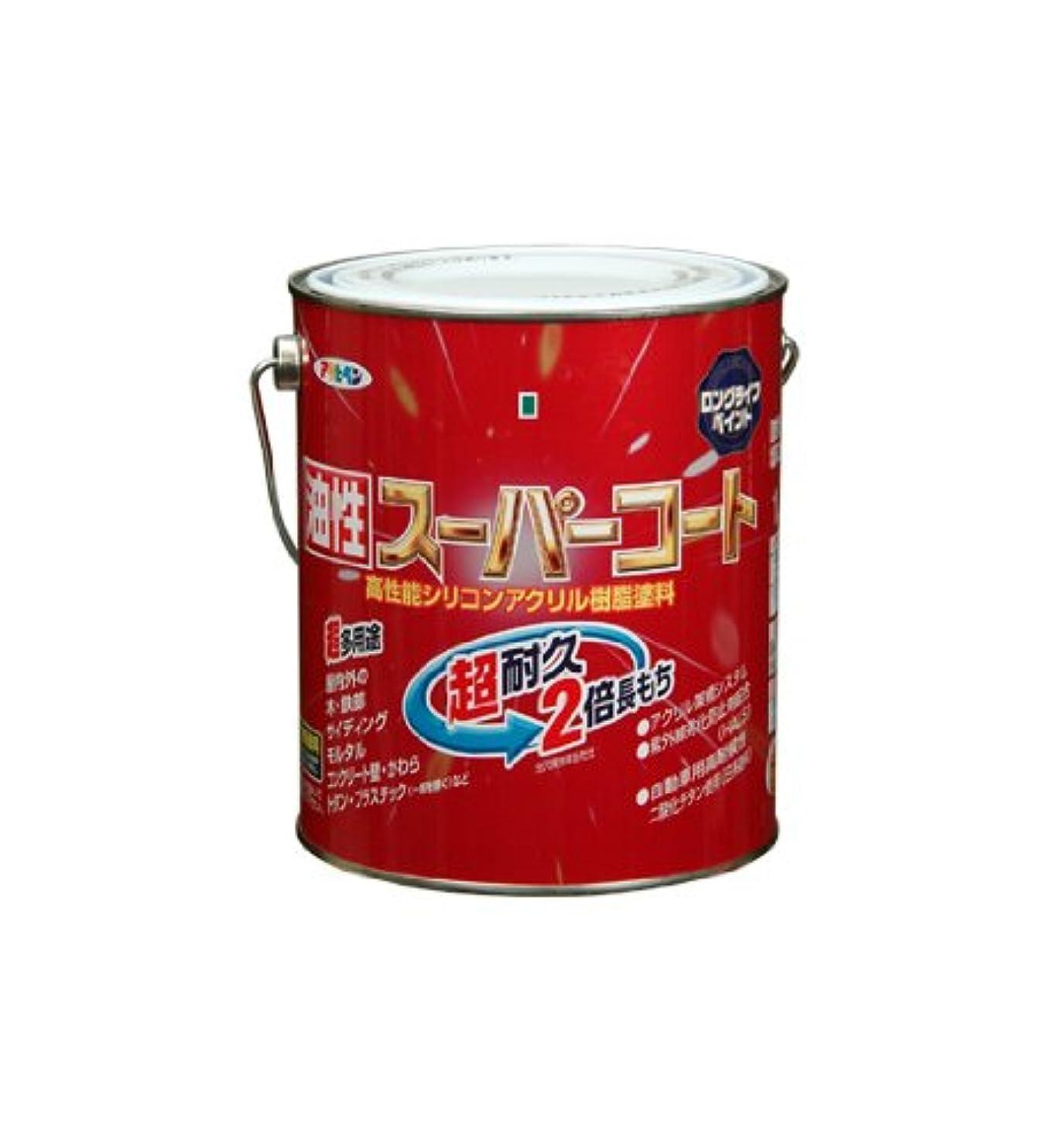 ヤギエラー健康アサヒペン 油性スーパーコート 1.6L 銀黒