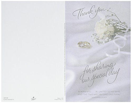 Darice Thank You For Sharing Wedding Program Card, 100 Pack
