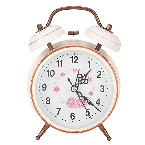 AUNMAS Despertador Vintage Mecánico Ligero Noche Luminoso Reloj Manual Doble Twin Timbre para Habitaciones Administración de Tiempo Durmientes Pesados(2#)