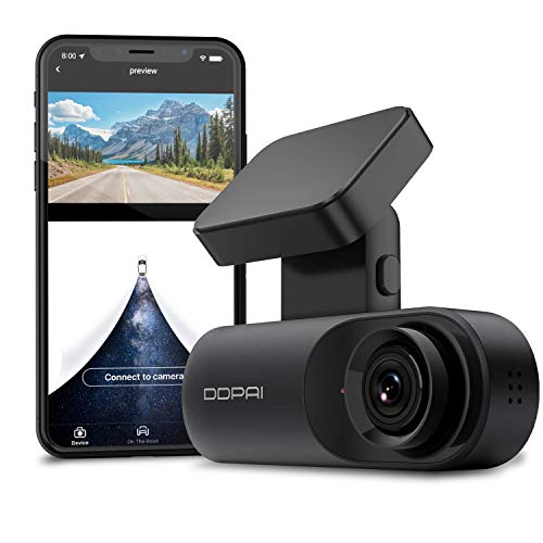 DDPAI Mola N3 Dash Cam, 1600P Front Dash Cam, 2K Dash Cam Recorder Single Front Dashboard Camera for Car  Infrared Night Vision  24hr Motion Sensor Parking Mode   App & Wi-Fi  Support 128GB max