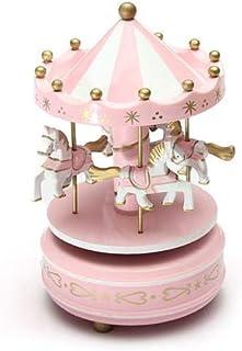 Merry-Go-Round Musical carousel horse wooden carousel music box Home Decor