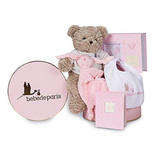 Canastilla bebé Recuerdos Esencial - caja regalo recién nacido- Incluye un original set de huellas para grabar los pies o manos del bebé