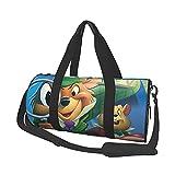Great Mouse Detective Bolsa de viaje Folle Gym Bag Bolsa de viaje, para deportes militares, camping, actividades al aire libre, conjuntos de 40,7 x 22,8 cm