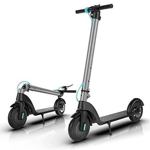 Yauuya - Mini scooter eléctrico de 350 W, patinete plegable de 8,5/10 pulgadas, diseño fácil de transportar y scooter eléctrico motorizado para Pendolarismo, ultraligero, carga de 120 kg