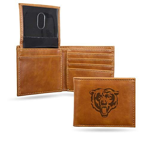 NFL Rico Industries Laser Engraved Billfold Wallet, Chicago Bears