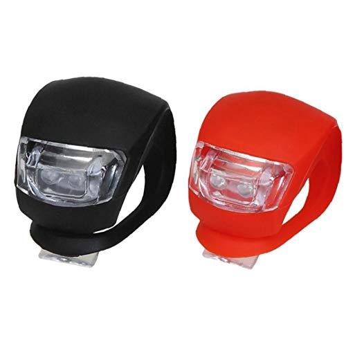 Fahrrad-licht-2 Packungen Silikon Led Fahrrad Front-und Rücklicht Mit Batterie-Set Wasserdicht Nebelscheinwerfer Für Fahrrad