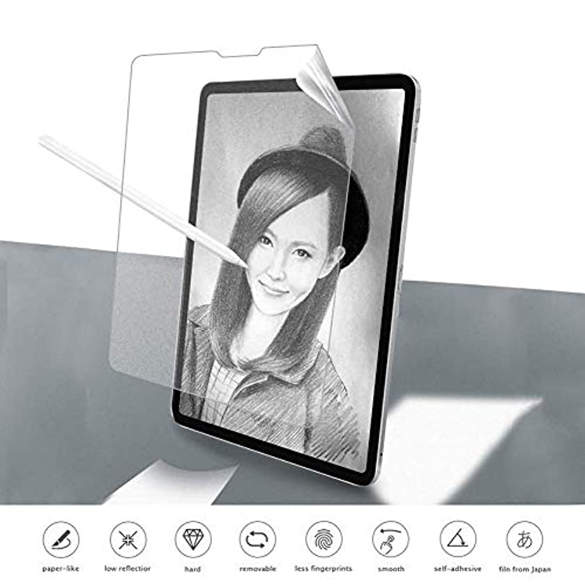 iPad Pro Enhance paperlike Feel PET Screen Protector New Technology Anti-Glare Anti-Fingerprint Excellent Sensibility Same as Paper Feel Screen Protector for iPad Pro 12.9 2018