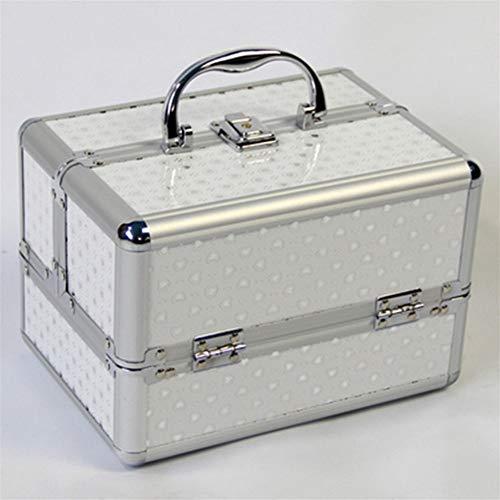 Nueva compone la caja de almacenamiento lindo maquillaje organizador de la joyería mujeres de la caja del organizador for viajes cosmética Cajas de almacenamiento Bolsa Maleta Organizador de maquillaj