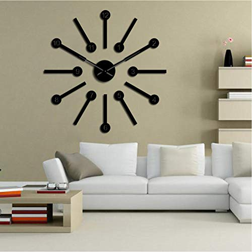 GUTONGHAO Big Space Wall Clock Kit Stickers Home Art Modern House Wall Decor DIY Big Hands Wall Clock Hanging Wall Watch Housewarming Gift 37 Pulgadas