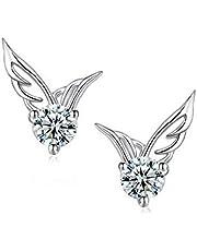 Women Fashion Angel Wing Stud Earrings