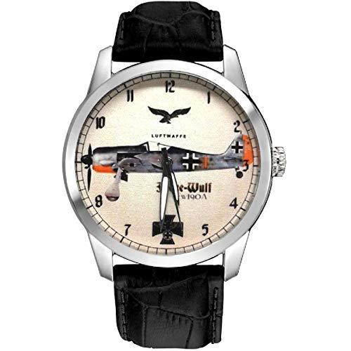 FW-190A - Reloj de pulsera vintage de Fokke Wulfe Luftwaffe WW-II
