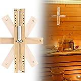 Hitzebeständig Sanduhr Sauna aus Holz,Hitzebeständig Sanduhr Sauna aus Holz,Sanduhr Sauna Zubehör 15 Minuten,Sauna Sanduhr Uhr,Sanduhr Sauna