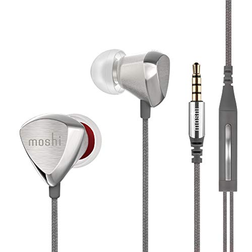 Moshi Vortex 2 Headphone with Microphone, Noise-Isolation, HI-FI, XR8, for iPhone Android Phone