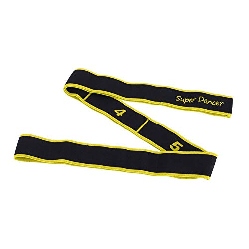 Dilwe Stretchband, 8 Loops Elastischer Widerstand Übungsband für Balletttanz Yoga Pilates Gymnastik Pullup Assist/Muskelaufbau/Stretching/Physiotherapie und Mehr(Gelb)