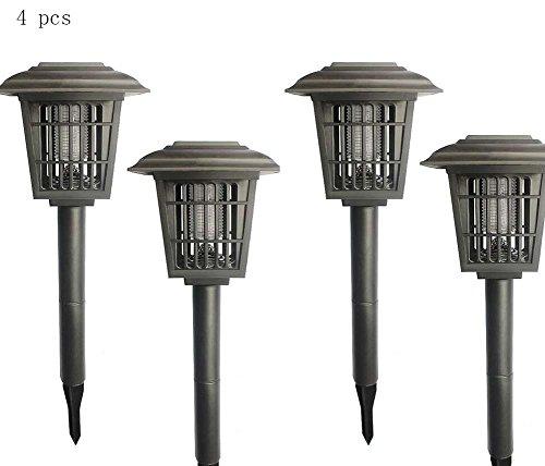 Lámpara de mosquito Luz solar for matar insectos al aire libre, luz portátil for mosquitos, luz de lluvia ligera for mosquitos / luz Zapper for insectos, mosca asesina con mosquitos - Función doble -