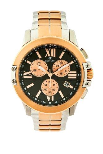 Oskar Emil Fresno RG - Reloj cronógrafo de Cuarzo para Hombre con Correa de Acero Inoxidable, Color Oro Rosa