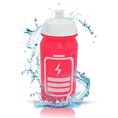 cpba germany – 500ml Powergirl Radflasche TacX Shiva Trinkflasche Bike Bottle Wasserflasche ohne Plastik Kunststoff - BPA-FREI - Triathlon Sport - Sporttrinkflasche