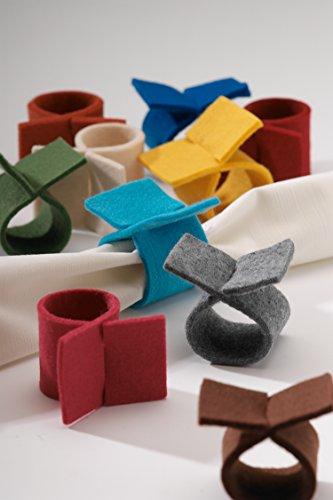 Pichler 6er-Set Serviettenringe aus Filz in vers. Farben (beige)