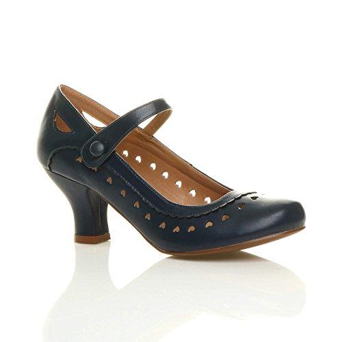 Zapatos tacón bajo Mary Jane mujer, estilo