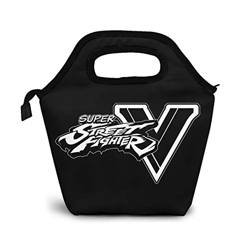Lunch Bag Insulated Carrying Bag Thermal Waterproof Cooler Warm Lunchbox Tote Box Case For School Travel Outdoor Office Work Picnic Ultra Street Fighter Ⅳ