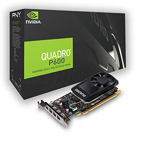 PNY Quadro P600 PCI Express 3.0 x16 LP 2 GB GDDR5 128 bit 4 x Mini DP 1.4 - Tarjeta Grafica