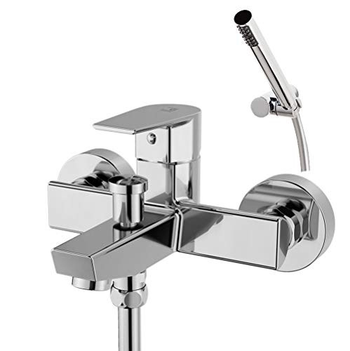 Galindo Aroha 4613000 grifo baño-ducha monomando cromo maneta corta con accesorios de ducha