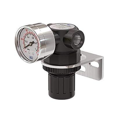 KCC KAR231B-N02BT Female Thread 1/4 NPT Air Pressure Regulator 0-150 PSI Adjustable/Bracket/Gauge from KCC Co., Ltd.