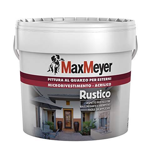 MaxMeyer Pittura  per esterni Quarzo Rustico BIANCO 2,5 L