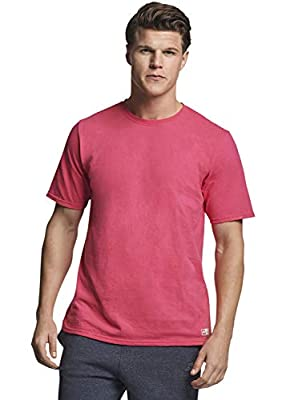 Russell Athletic Men's Performance Cotton Short Sleeve T-Shirt, Watermelon Pink, L