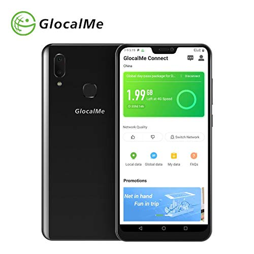 GlocalMe S20i Unlocked Smart Phone with 1GB Global & 8GB US Data, SIM...