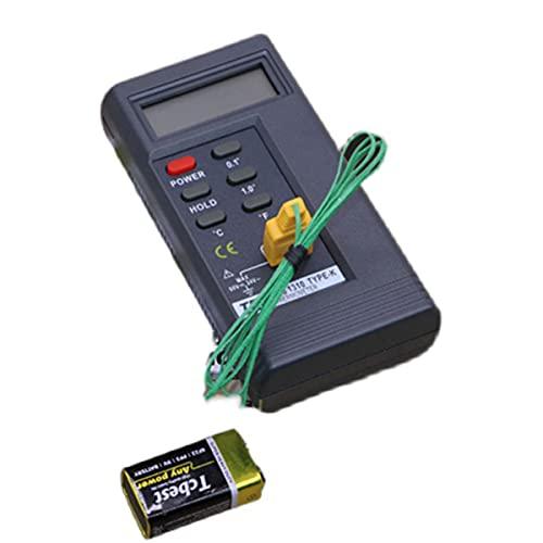 EXEDSCEND Medidor de probador de sensores de Lector de Temperatura del termómetro Digital con sonda de Tipo K, función multifunción Industria Digital de Alta Temperatura Pistola de medición