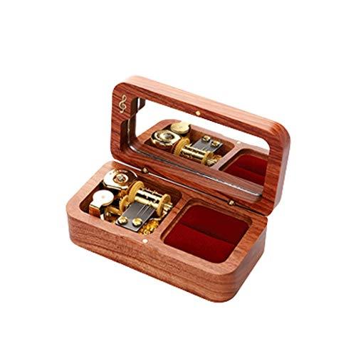 LEGU Cajas Musicales Caja de música de joyería de relojería Play Caja de música de Madera Maciza controlable para Navidad, Regalos de cumpleaños Caja de música (Color : Rosewood-Music:Spirited Away)